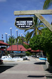Resort store. A view of a sign at a store or shop at a resort on the British Virgin Islands Stock Photography