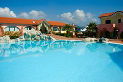 Resort summer pool Stock Photography