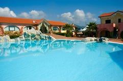 Resort summer pool Stock Photography