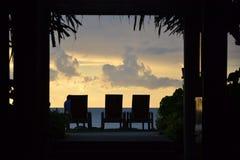 Resort sunset Stock Image