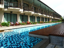 Resort with swiming pool. Beautiful resort and swiming pool at Thailand Royalty Free Stock Image