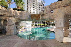 Resort Swimming Pool. A resort swimming pool with rock Stock Images