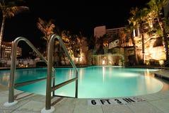Resort Swimming Pool. A resort swimming pool at night Royalty Free Stock Photos
