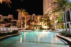 Resort Swimming Pool. A tropical resort swimming pool Stock Image