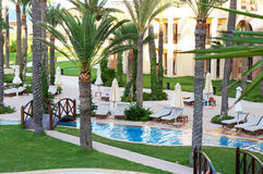 Resort swimming pool Stock Photos