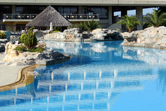 Resort with swimming pool Stock Photo
