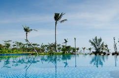 A resort swimming pool Royalty Free Stock Photos