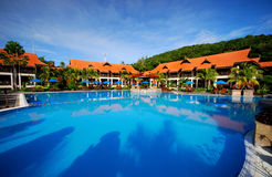 Resort swimming pool Stock Photo