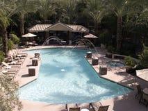 Resort Swimming Pool. A beautiful swimming pool in a resort in Phoenix, Arizona, USA Royalty Free Stock Photo