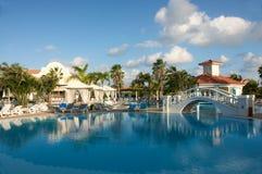 Resort swimming pool. Beautiful resort swimming pool area Royalty Free Stock Images