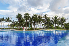 Resort swimming pool Stock Images