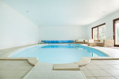 Resort with swimming pool Stock Images