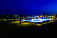 Resort swimming pool Royalty Free Stock Photography