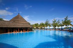 Resort Swimming Pool in Mauritius Stock Photos