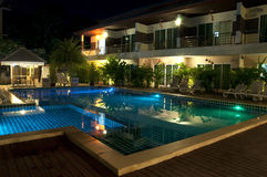 Resort with swimming pool Stock Photography