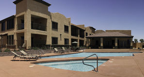 Resort swimming pool and spa. Arizona vacation resort swimming pool and spa near Sedona Stock Photography