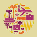 Resort symbols Stock Images