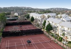 Resort Tennis Courts Royalty Free Stock Photos