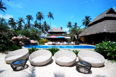 Resort of thailand. Khokood trad Thailand (Tinkerbell privacy resort Royalty Free Stock Photos