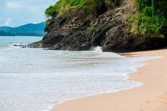 At the resort of Thailand rocky coast Royalty Free Stock Photos
