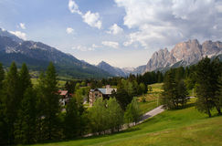 The resort town of Cortina in the Italian Alps Stock Images