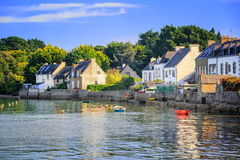 Resort town in France. Little resort town on Morbihan coast in Brittany, France royalty free stock photo