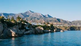 Resort town of Nerja in Spain. View from Balcon de Stock Photo