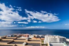 Resort town Puerto Santiago seascape, Tenerife Stock Photos