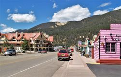 Resort Town of Red River, New Mexico. Red River is a resort town in Taos County, New Mexico, United States, located in the Sangre de Cristo Mountains. Activities stock photos