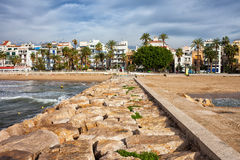Resort Town of Sitges in Spain Stock Photo