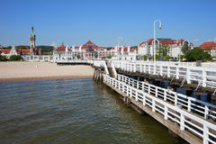 Resort Town of Sopot in Poland Royalty Free Stock Image