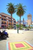 Resort town square,Greece Stock Photos