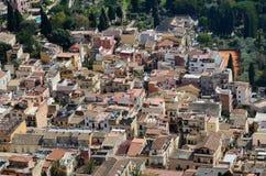 Resort town Taormina on the Sicilian coast Royalty Free Stock Photography