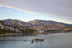 Resort town in Turkey Royalty Free Stock Images