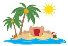 Resort. Tropical beach. For you design Stock Photos