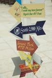 Resort Vacation fun sign Royalty Free Stock Photo