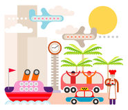 Resort - vector illustration Royalty Free Stock Photo