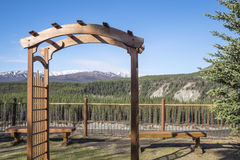 Resort with a View Near Denali National Park Stock Photo