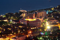 Resort village Camyuva Kemer, Antalya Province, Turkey, night, t Royalty Free Stock Image