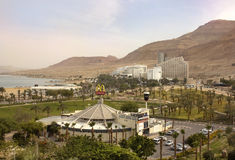 Resort village of Ein Bokek on the shores of Dead Sea, Israel Royalty Free Stock Photography