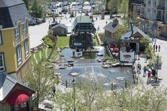Resort Village of Mont Tremblant Stock Images