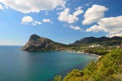 The resort village of the New light. Crimea. Ukraine Royalty Free Stock Image