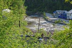 The resort village Nilova Pustyn in the Ikhe-Uhgun River valley Stock Image
