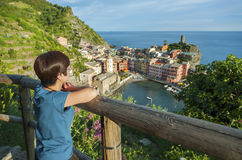 Resort village Vernazza, Cinque Terre, Italy Royalty Free Stock Photo
