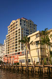 Resort on water. Resort in fort lauderdale florida royalty free stock images