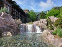 RESORT WATERFALL Royalty Free Stock Photography