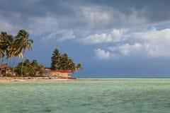 Resort waterfront beach landscape view, Cuba vacation Stock Photo