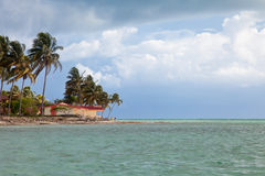 Resort waterfront beach landscape view, Cuba vacation Royalty Free Stock Image