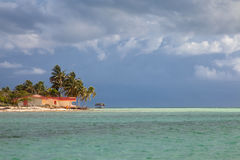 Resort waterfront beach landscape view, Cuba vacation Stock Images