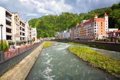 Resort of world class Rosa Khutor Stock Photography